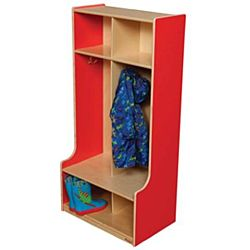 Wood Designs, Children 2 Section Locker Red, WD52400R