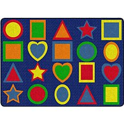 All Kinds Of Shapes Primary Colors Classroom Rug