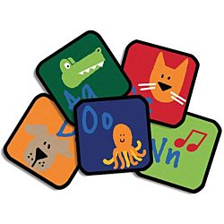 Learning Blocks Kit Classroom Rug Primary Colors