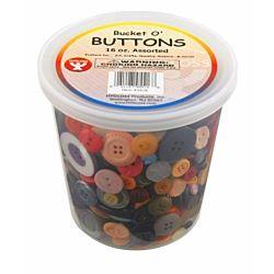 Hygloss 5516 Bucket O' Buttons, 16-Ounce