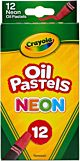 Crayola Oil Pastels, Assorted Neon Colors -12 Count 52-4613